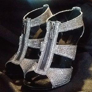 Michael Kors Studded Chain Mesh Heels